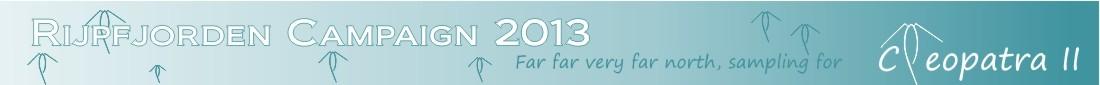 Rijpfjorden campaign 2013